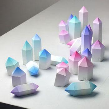 Különleges adventi kalendárium papír kristályokból