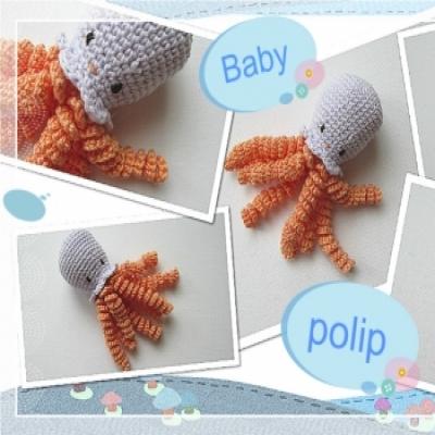 Aranyos amigurumi baby polip ( ingyenes amigurumi minta )