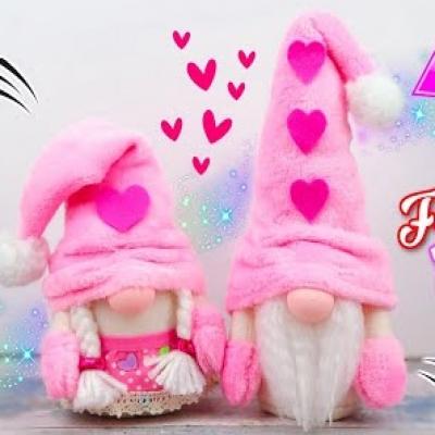 Valentin napi manók - (zokni)manó készítés egyszerűen ( Valentin napi ajándék )