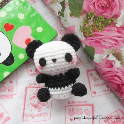 Mini amigurumi panda (ingyenes amigurumi minta)