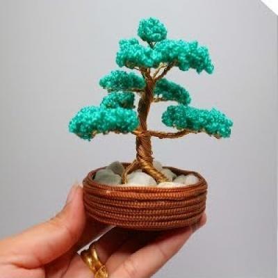 Mini drót bonsai (drót fa) készítése házilag lépésről-lépésre