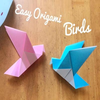 Origami madár - papírhajtogatás kezdőknek
