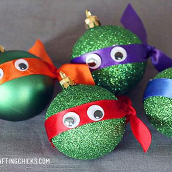 Karácsonyfadísz tini nindzsa teknőcök