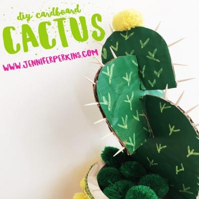 Kartonpapír kaktusz - soha el nem száradó vicces szobanövény házilag