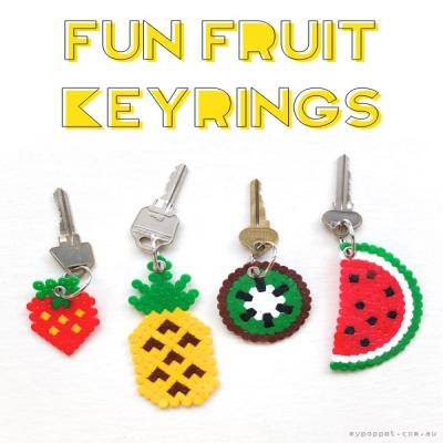 Gyümölcsös kulcstartók vasalható gyöngyből egyszerűen