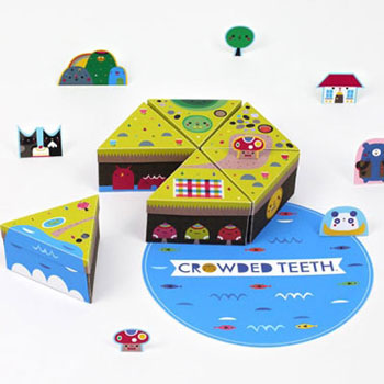 Papír sziget - dobozkák és játékfigurák papírból (mintaívvel)
