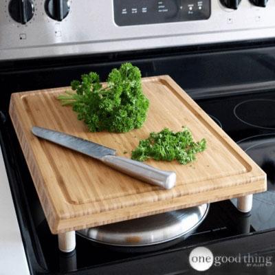 Lábas vágódeszka házilag - okos helykihasználás (konyhai trükk)