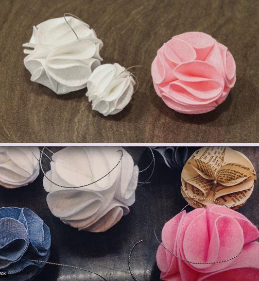 Karácsonyfadísz gömbök egyszerűen textilből - kreatív ötlet textilmaradékokra