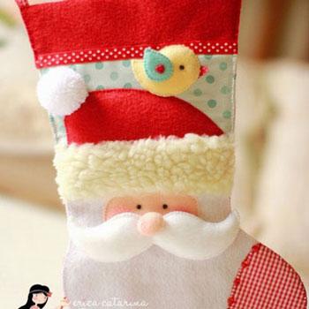 Mikulás csizma - zokni  filcből (szabásmintával)