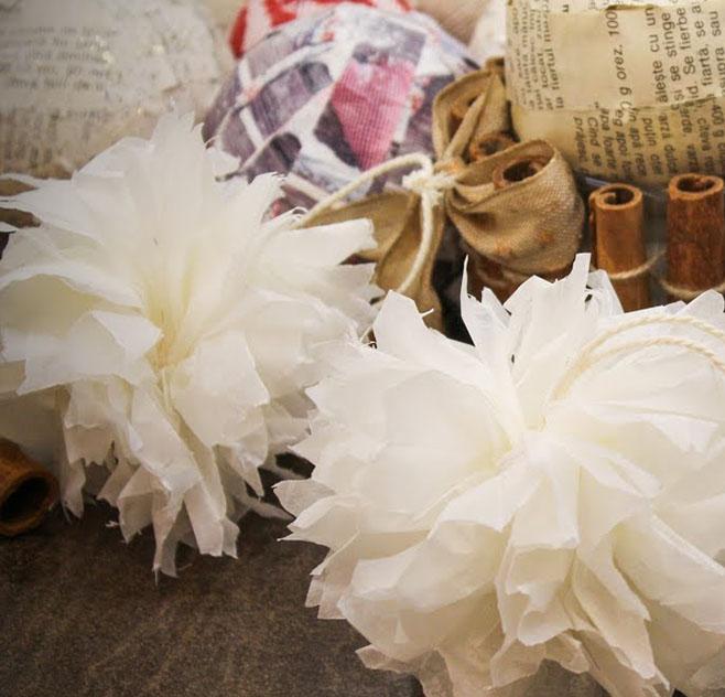 Sütőpapír virág pomponok gyorsan és egyszerűen - buli dekoráció papírból