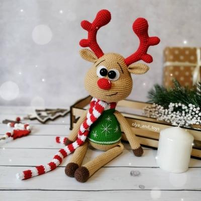 Rollie a karácsonyi rénszarvas (ingyenes amigurumi minta)