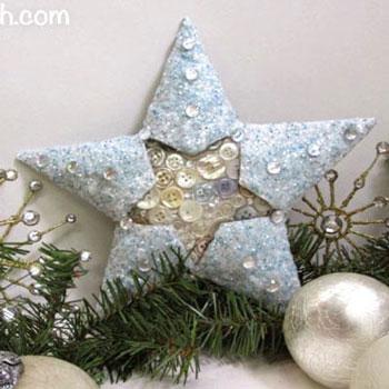 Csillag wc papír gurigákból gombokkal