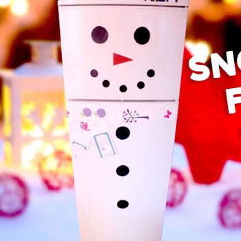 Hűtő hóemberek - téli dekoráció egyszerűen