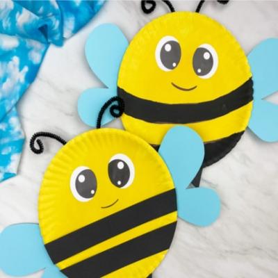 Papírtányér méhecskék - egyszerű tavaszi ötlet gyerekeknek