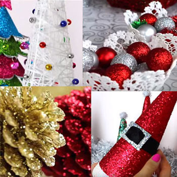 DIY Christmas decorations (4 different easy craft idea)