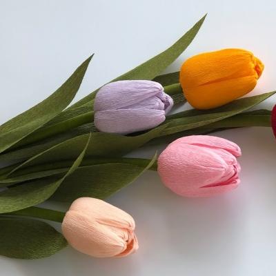 Krepp papír tulipán ( papír tulipán készítése lépésről-lépésre )