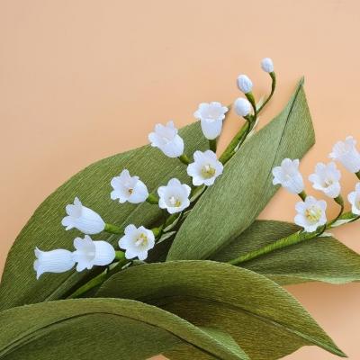 Krepp papír gyöngyvirág (gyöngyvirág készítés lépésről-lépésre)