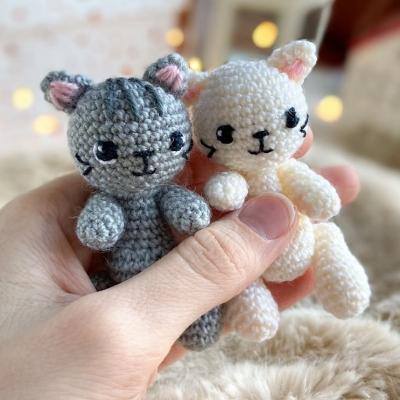 Mini amigurumi macska (mini horgolt cica) - ingyenes horgolásminta