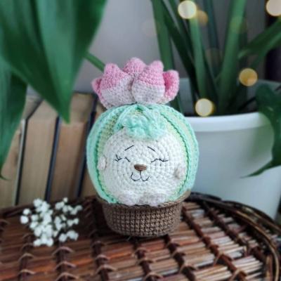 Cserepes amigurumi sündisznó kaktusz (ingyenes angol amigurumi minta)