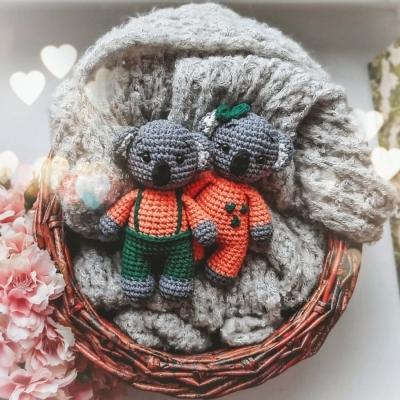 Fiú és lány amigurumi koala (ingyenes amigurumi minta)