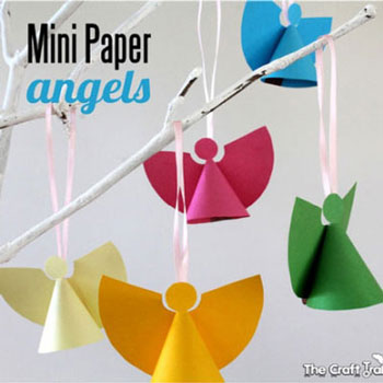 Mini paper angels (with printable template)