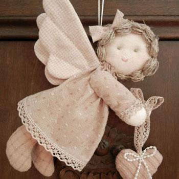 Foltvarrott angyalka (szabásmintával)