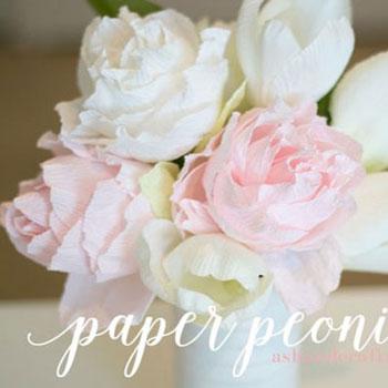 Krepp papír pünkösdi rózsa csokor