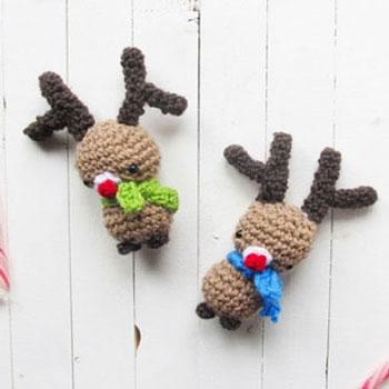 Horgolt amigurumi Rudolf rénszarvasok