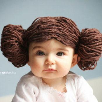 Leia hercegnő haj fonalból - Star Wars (Csillagok háborúja)