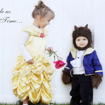 Beauty and the beast costumes (Belle and beast) - Disney