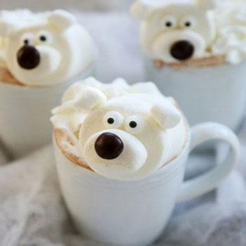 Jegesmedvés pillecukrok forró csokihoz / kakaóhoz