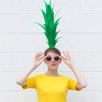 Villámgyors ananász jelmez - farsangi jelmez