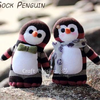 Aranyos zokni pingvinek - plüss játékok