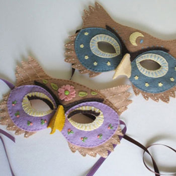 DIY Felt owl mask tutorial