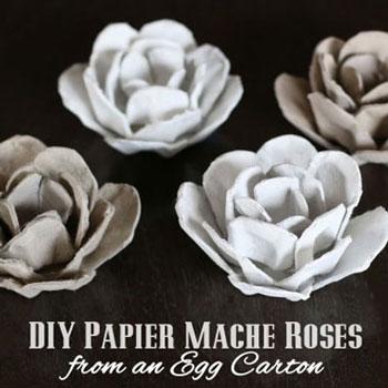 Tojástartó rózsák (papír virágok) egyszerűen