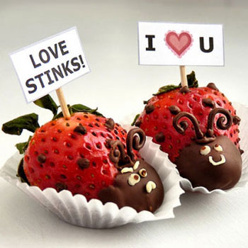 DIY Valentine's day strawberry lovebugs