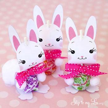 Nyalóka nyuszik - kreatív húsvéti nyalóka csomagolás