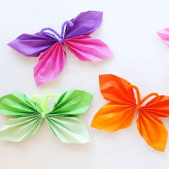 Papír harmonika pillangó füzér