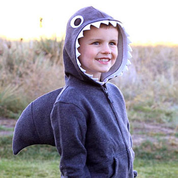Simple halloween shark costume with fin