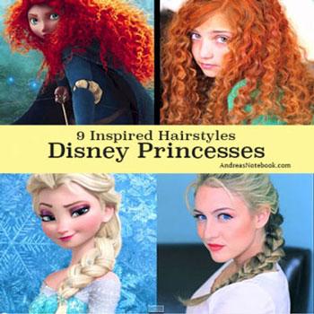 9 különféle Disney hercegnő frizura (videó bemutatókkal)