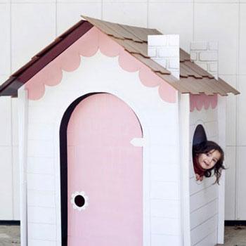 Játszóházikó gyerekeknek kartonpapírból (szétszedhető)