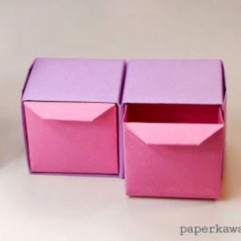Mini origami fiókos rendszerezők (papírhajtogatás)