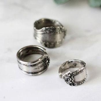 Gyönyörű gyűrűk evőeszközökből (kanalakból,villákból)