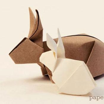 Origami nyuszik  - papírhajtogatás