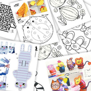 60 different easter activity / coloring page and easter craft printable