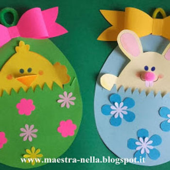 Zsebes húsvéti tojás képeslapok - kivehető figurával