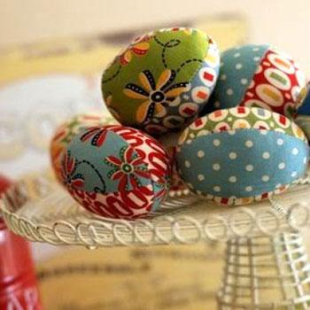 Patchwork textil húsvéti tojások - foltvarrás ( szabásmintával )
