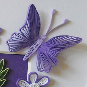 Butterflies with quilling