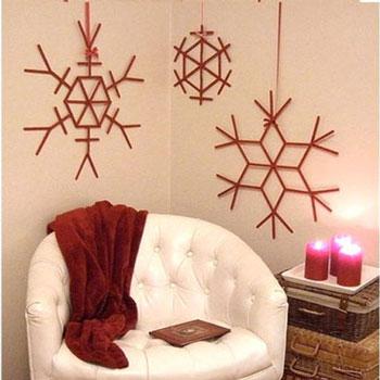 Óriás hópehely jégkrém pálcikából - téli dekoráció