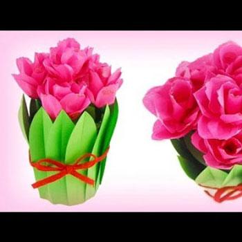 Virágcsokor alakú ajándékdoboz konzervdobozból